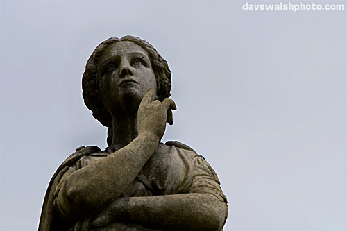 Statue on Charles Fort Grave, Albany Rural Cemetery forteana fortean strange phenomena paranormal