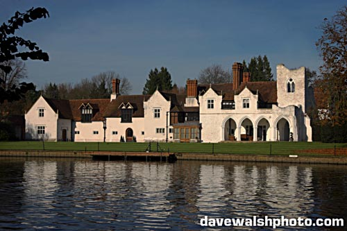 Medmenham Abbey, on the Thames, where the Hellfire Club had their meetings