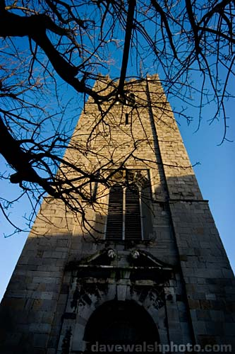 The tower of St. Michan's Church, Dublin Ireland