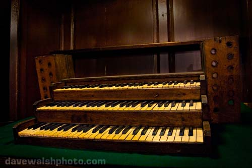 St. Michan's Church and mummies, the old keyboard