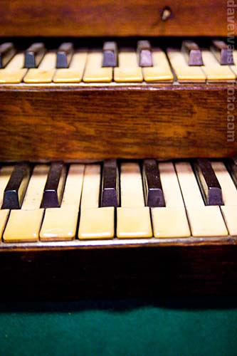 The old keyboard from the organ St. Michan's Church, Dublin Ireland