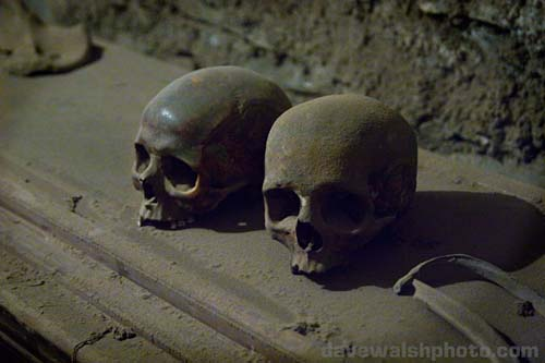 Skulls: St. Michan's Church and mummies, Dublin Ireland