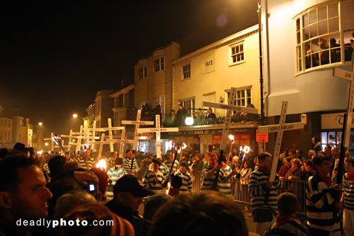 Guy Fawkes and Bonfire Parade in Lewes