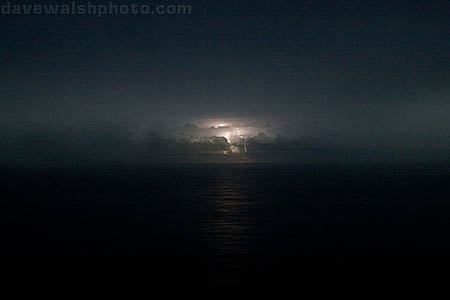 lightning, pacific ocean, near Papua New Guinea. border=