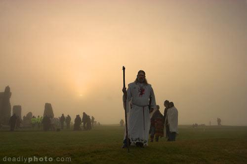 Stonehenge Solstice 2005. King Arthur Pendragon